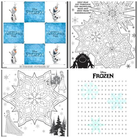 printable frozen activity book frozen movie review plus fun printable activities for the kids