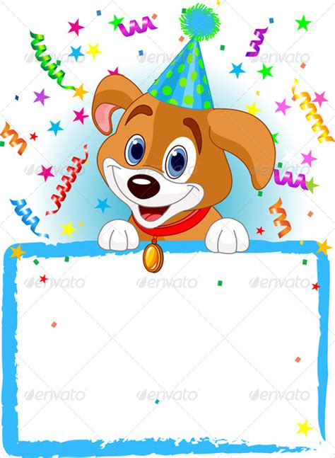 birthday card template for dogs 16 animal birthday invitation templates free vector eps