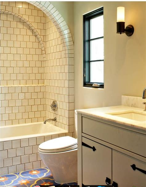 spanish tile bathroom ideas curved tile arch shower detail tile your world