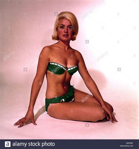 1960s female model female model in bikini 1960s stock photo royalty free