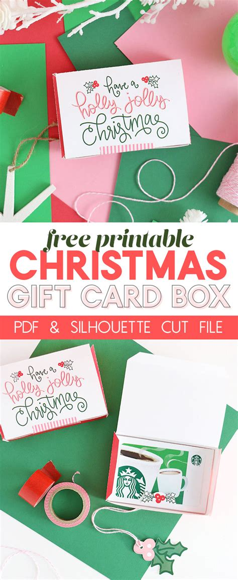 printable gift card box diy gift card box free printable gift idea for christmas