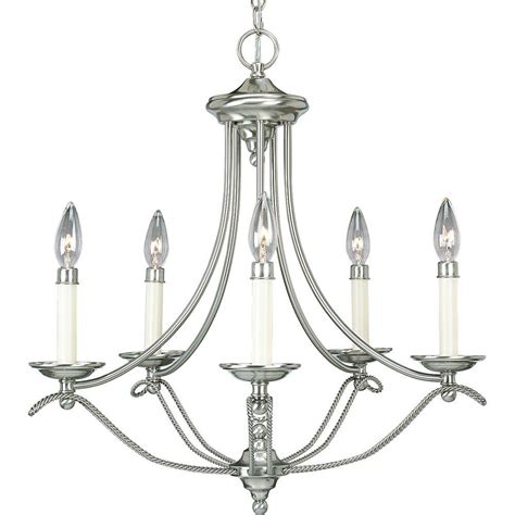 Home Depot Candle Chandelier Progress Lighting Avalon Collection 5 Light Brushed Nickel Chandelier P4057 09 The Home Depot