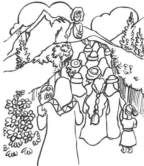 Sermont On The Mount Coloring Pages The Beatitudes Sermon Beatitudes Coloring Pages