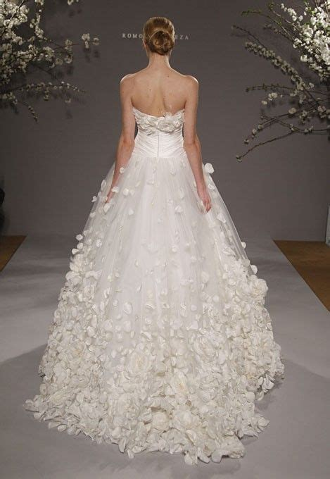 flower design wedding dresses ramona keveza a strapless wedding dress that looks like