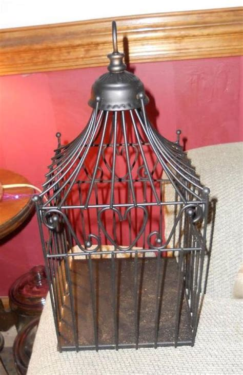 Reception Gift Card Holder Cage - square heart decorative birdcage wedding reception bird cage gift card holder ebay