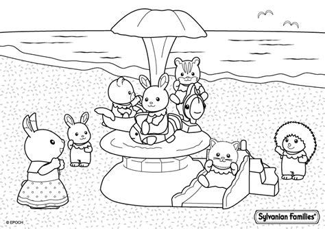 sylvanian family coloring page petit tour sur le man 232 ge de la plage les coloriages