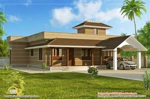 Single Floor Home Plans by Single Floor Home Design 1395 Sq Ft Kerala Home