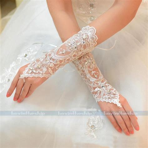 Lace Wedding Gloves new lace bridal glove wedding prom partu costume