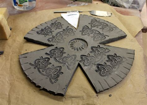templates for clay projects day 274 slab pottery notch cut bowls slab pottery and