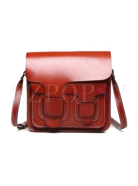 Asymmetric Buckle Bag In The Style Of Mischa Barton By Asos by Chic Asymmetric Pattern Buckle Closure Crossbody