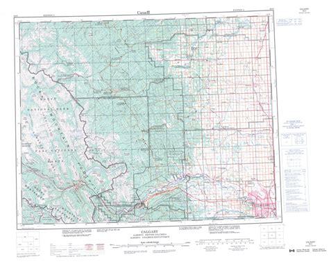 printable map alberta printable topographic map of calgary 082o ab