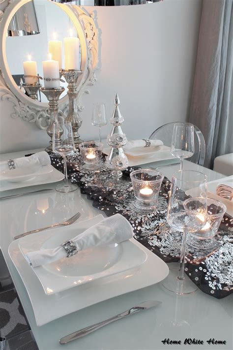 And White Table Decorations by Silver And White Table Decorations 2185