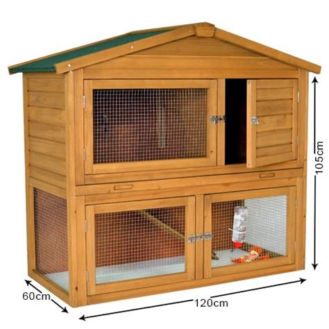 The Hutch The Chalet 4ft Rabbit Hutch Outdoor Rabbit Hutches