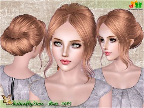 simple hairstyles images download simple chignon hairstyle 085 by butterfly sims 3 hairs