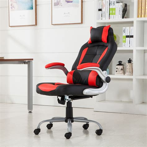 Padded Cing Chair by Racing Office Chair Reclining Back Padded Headrest Pu