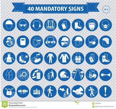 mandatory signs stock illustration image