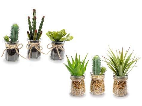 piante grasse in vaso di vetro pianta grassa artificiale in vasetto di vetro c pietre 54