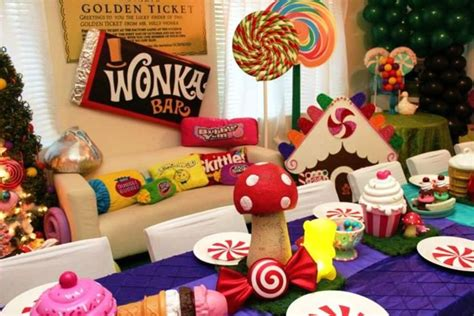 Modern Nightstands Willy Wonka Birthday Party Decorations Cute Willy Wonka