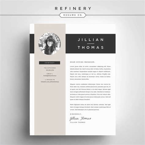 Cover Design Vorlagen creative resume template and cover letter template for