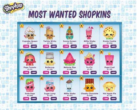 Printable Shopkins Shopping List   free coloring pages of season 1 shopkins