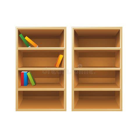scaffali libri scaffali per libri di legno di vettore illustrazione