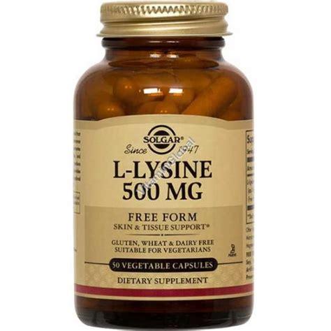 l lysine vegetables l lysine 500mg 100 vegetable capsules solgar