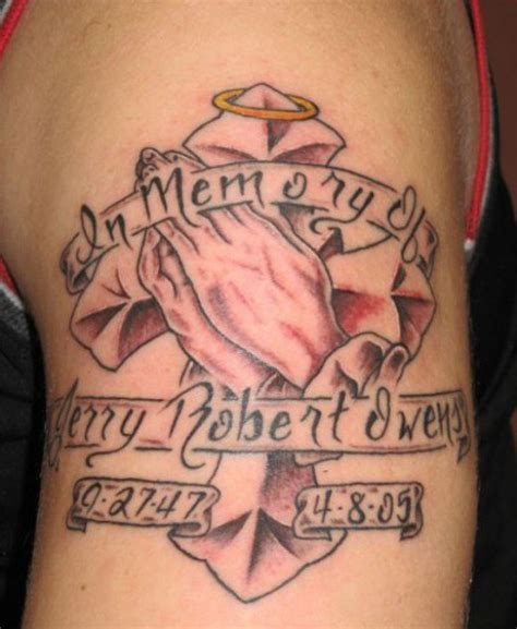 in memory cross tattoo designs in loving memory memorial r i p tattoos tatring