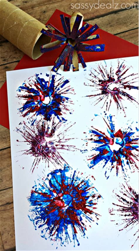 Paper Fireworks Crafts - toilet paper roll fireworks craft for crafty morning