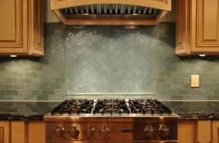 Glass Tile Kitchen Backsplash by Glass Tile Backsplash Casual Cottage