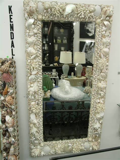 How To Decorate A Mirror With Shells by Shells Seashell Decor White Seashell
