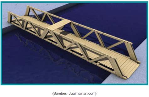 desain jembatan dari stik es krim contoh miniatur jembatan dan bahan pembuatnya pak guru