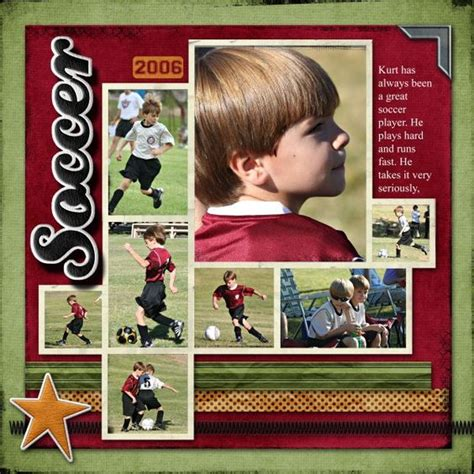 scrapbook layout soccer layout kids soccer and soccer on pinterest