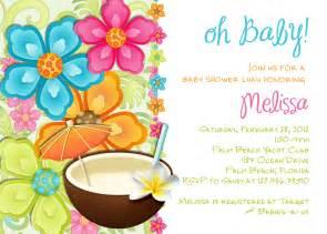 luau baby shower invitation tropical hawaiian hula