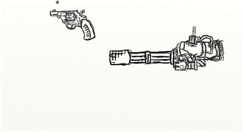 minigun coloring page image gallery minigun drawings