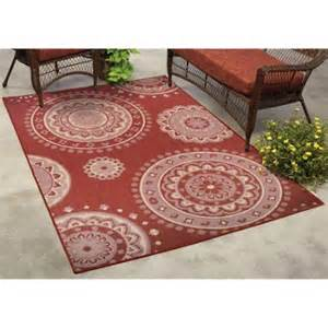 Walmart Indoor Outdoor Rugs Mainstays Lila Medallion Indoor Outdoor Rug Walmart