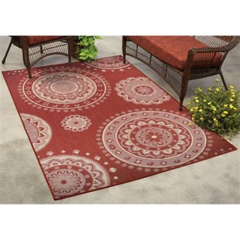 Indoor Outdoor Rugs Walmart Mainstays Lila Medallion Indoor Outdoor Rug Walmart