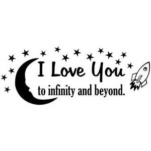 To The Infinity And Beyond I You To Infinity And Beyond Vinyl Wall Quote With Moon