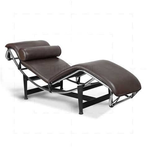 leather lounge chaise le corbusier chair lc4 chaise lounge brown leather