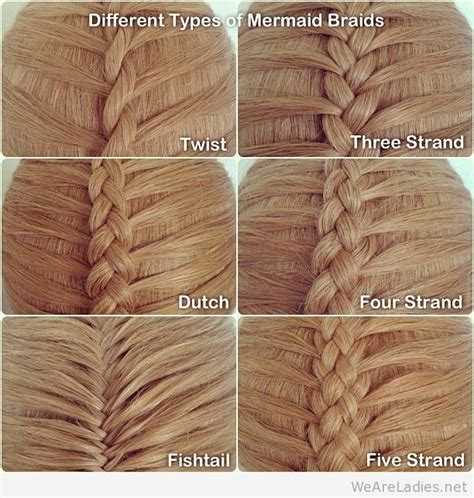different kinds of twists different types of mermaid braids hair pinterest