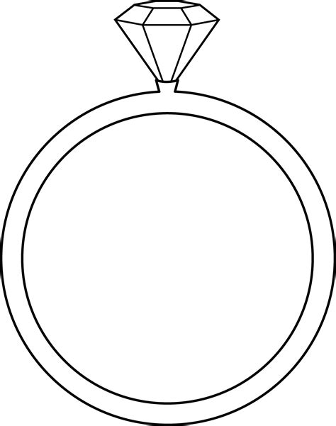 diamond ring coloring pages diamond ring coloring pages clipart best