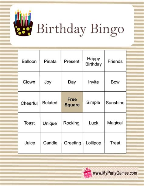 printable birthday bingo cards 17 best images about free birthday printables on pinterest