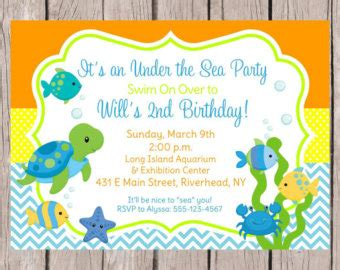 Birthday Invitation Templates Under The Sea Birthday Invitations Birthday Invitations Birthday The Sea Birthday Invitation Template