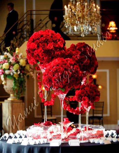 hydrangea and red rose centerpieces www pixshark com