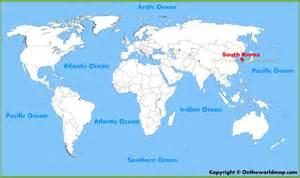 World Map Korea by South Korea Location On The World Map