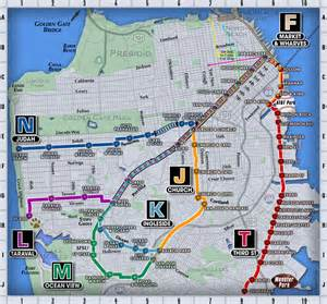San Francisco Train Map by F Line San Francisco Map