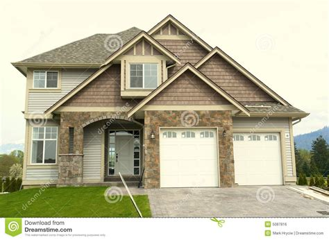 Garage In Front Of House New Home House Front Garage Royalty Free Stock Image