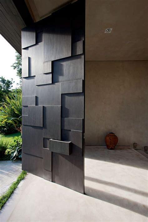 Contemporary Black Front Doors Picture Of Modern Sculptural Black Front Door
