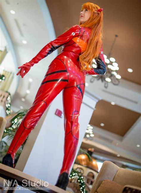 asuka langley plug suit cosplay asuka langley sohryu neon genesis evangelion by alouette