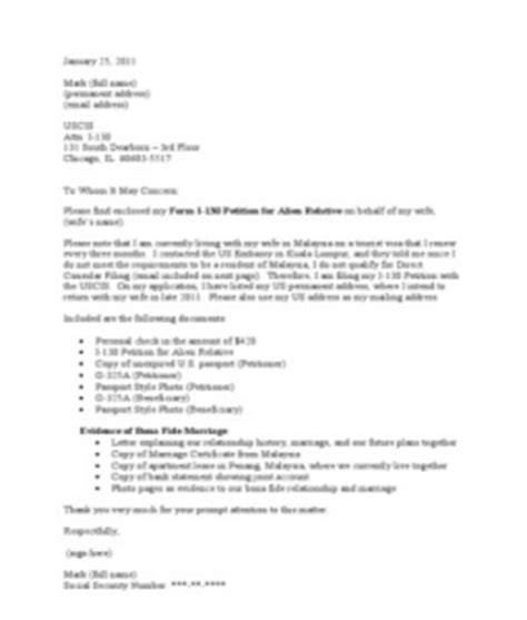 uscis cover letter sle application letter sle uscis i 130 cover letter sle