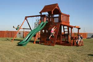 Wooden Playsets Best Wooden Swing Set Wood Playset Denver
